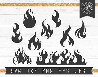 clip download Flame svg silhouette. Flames etsy