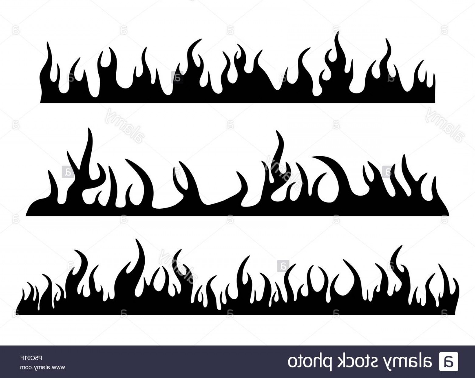 clip art free stock Burning fire set banner. Flame svg silhouette