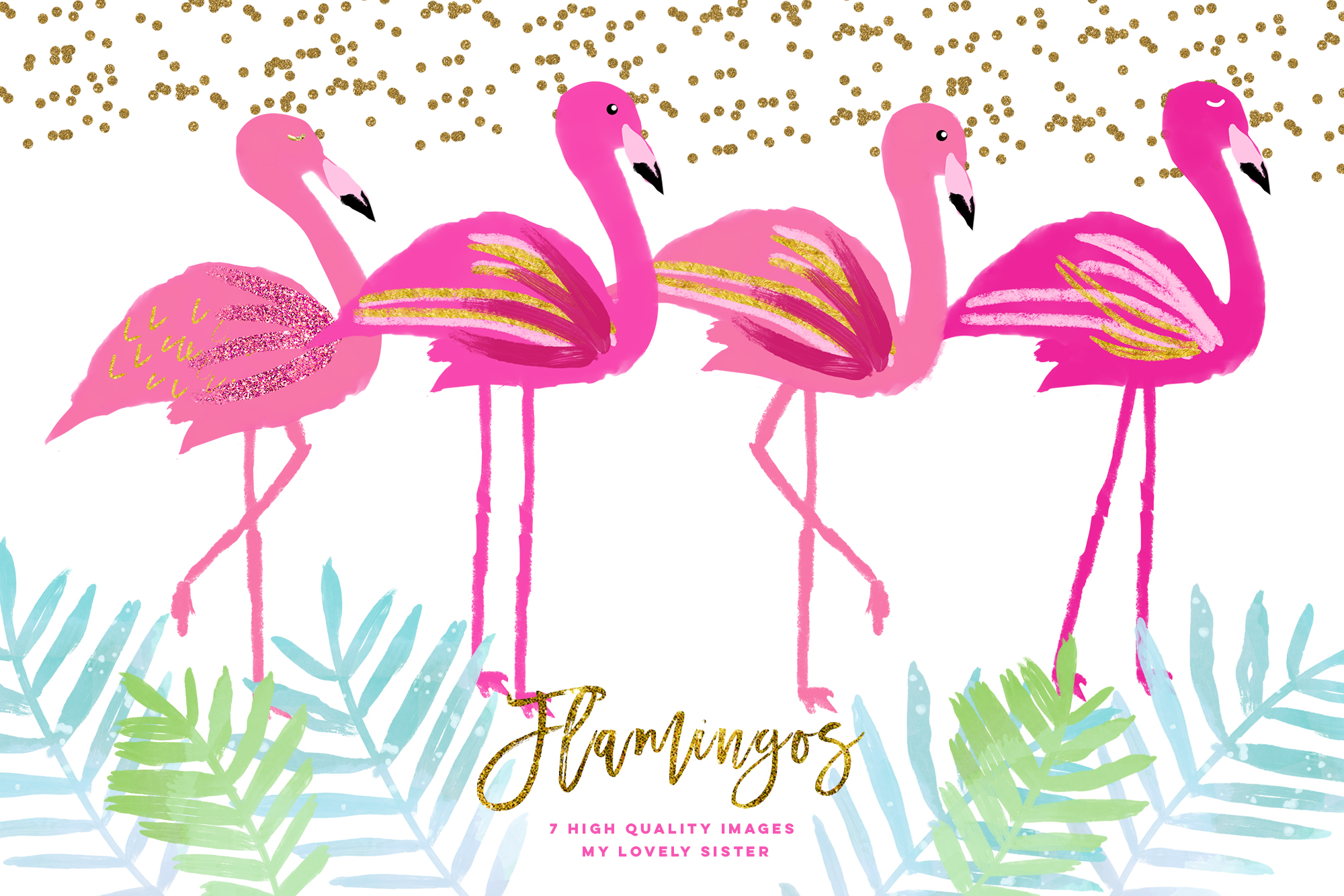 png freeuse Pink scrapbooking cupcake toppers. Flamingo clipart.