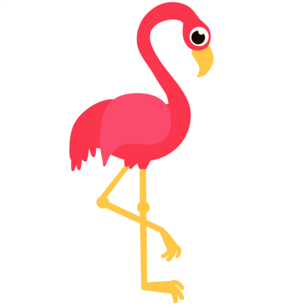 vector library stock Clear background free on. Flamingo clipart.