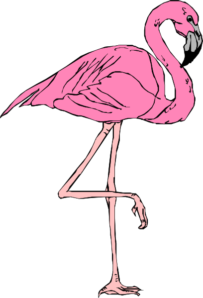 picture library stock Flamingo Clip Art Black And White