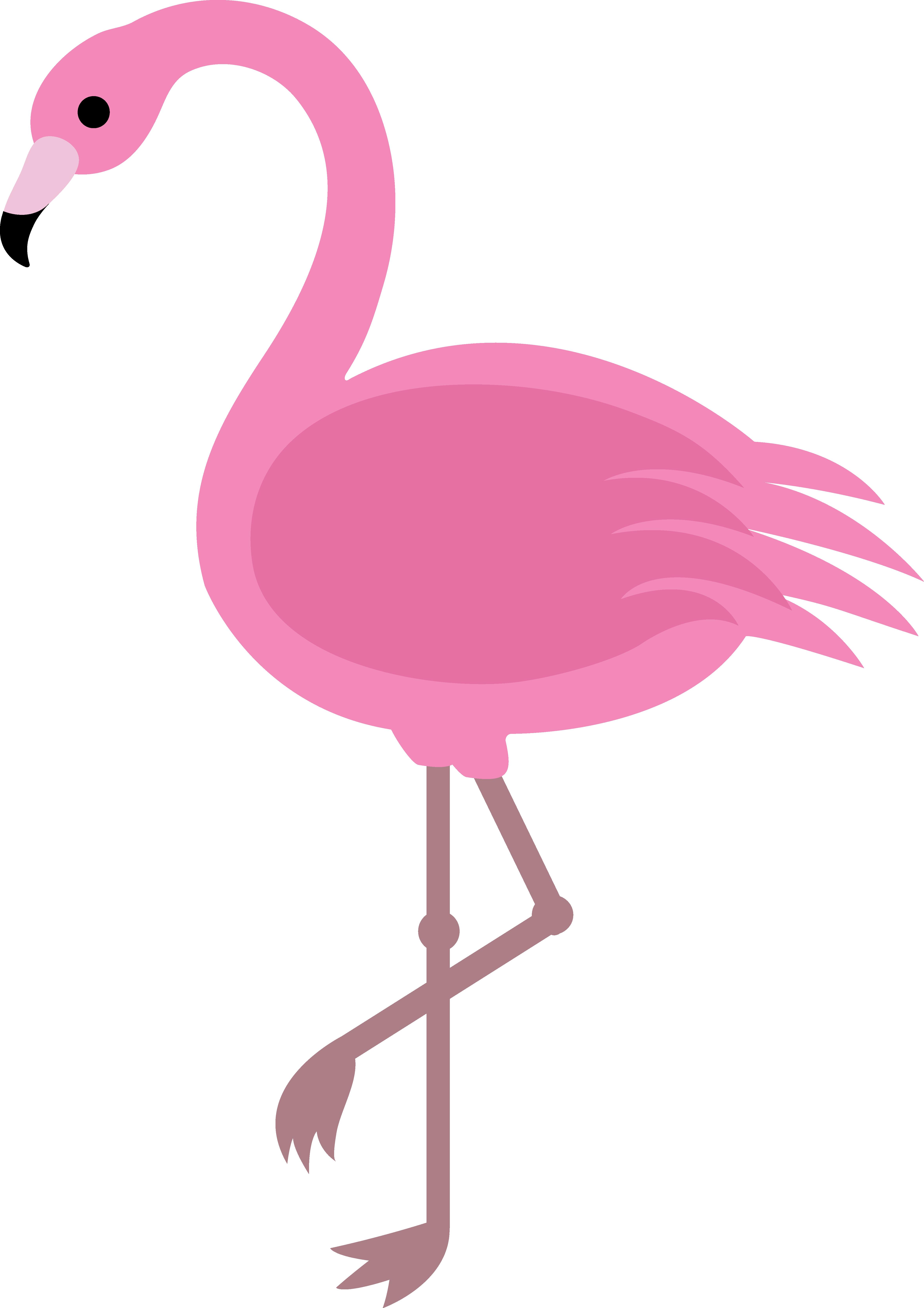 clip black and white Pink Flamingo Clip Art