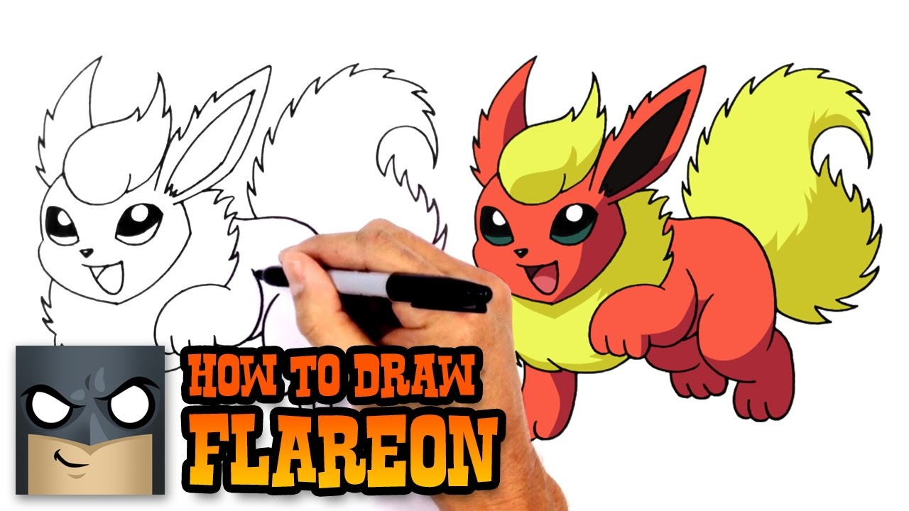 clip art transparent How to draw pokemon. Flareon drawing