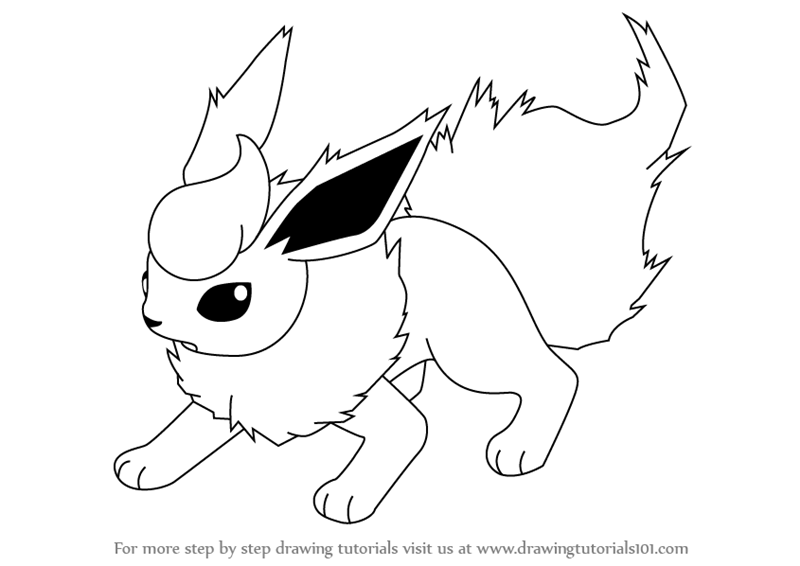 graphic freeuse Flareon drawing. Is a quadruped reddish