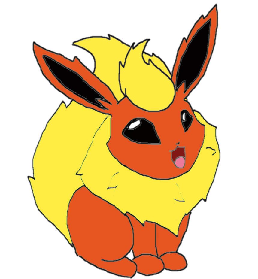 vector library stock Flareon drawing. By super juliamon on