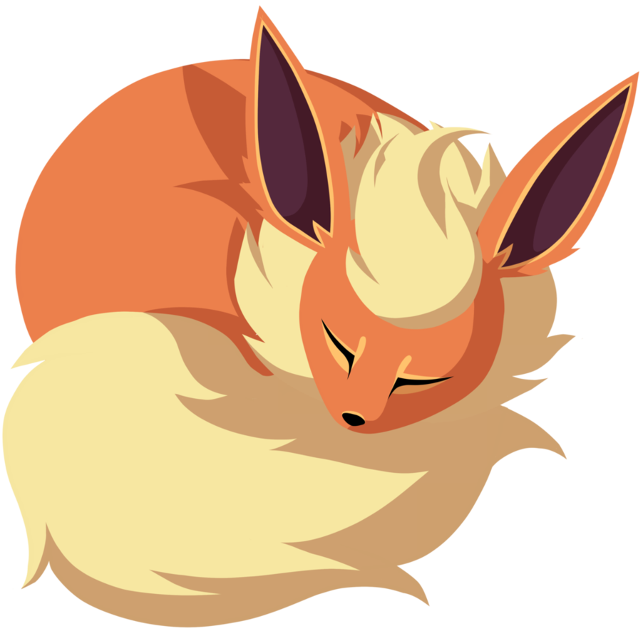 clip art library stock Sleeping oc album on. Flareon drawing