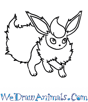 vector Flareon drawing. How to draw pokemon