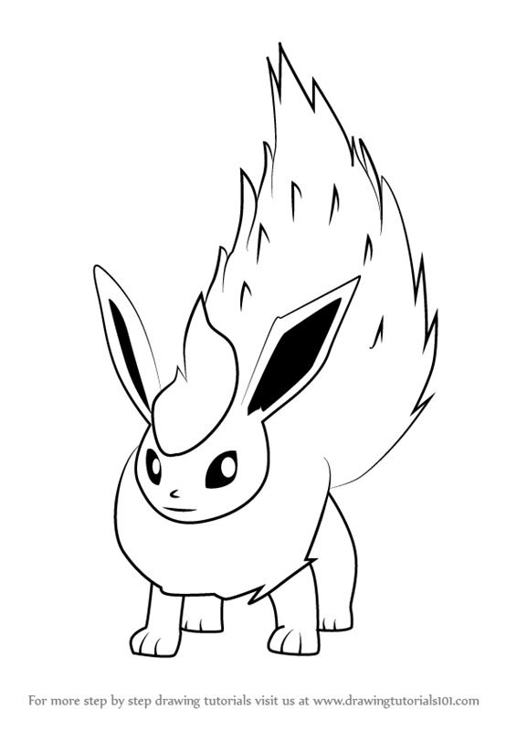 png royalty free library Flareon drawing. Learn how to draw