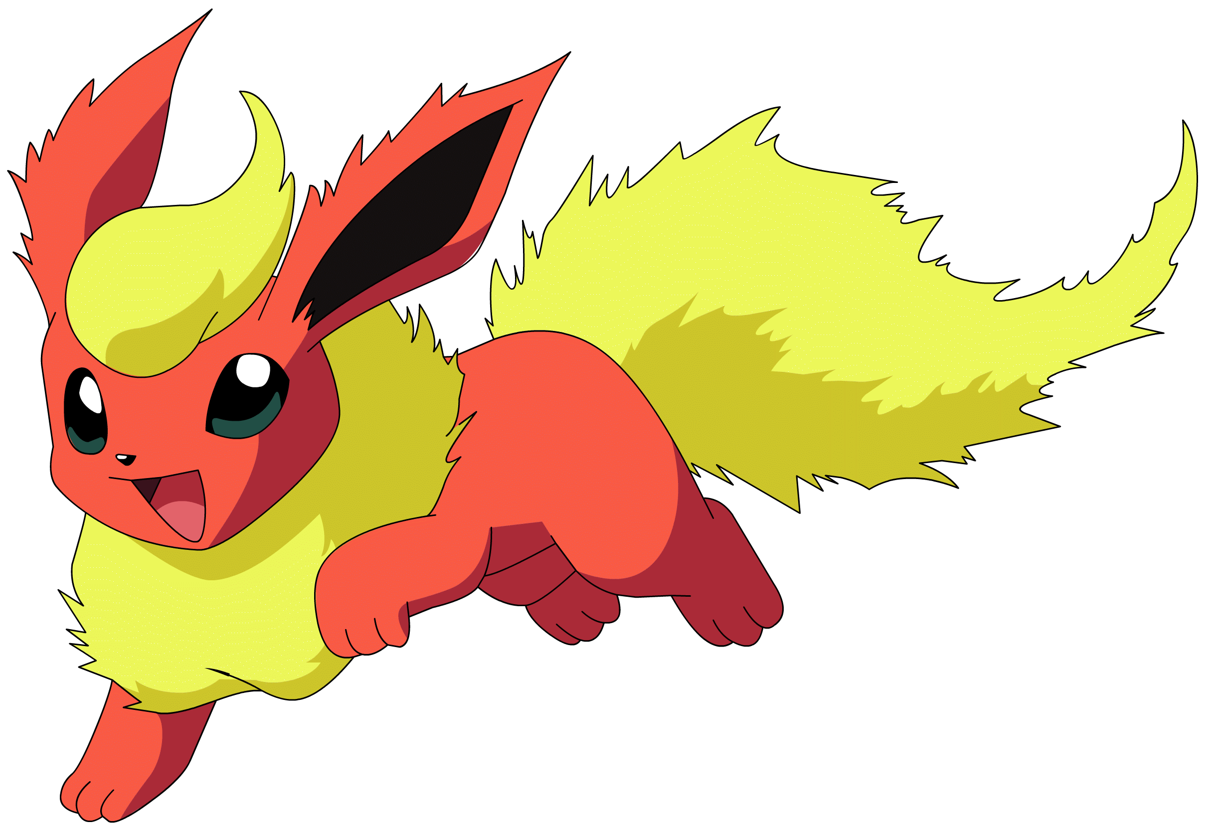 graphic royalty free download Flareon Pokemon transparent PNG