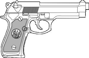 svg library Pistol Outline Clip Art at Clker