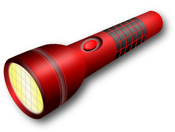 clipart stock Red clip art at. Flashlight clipart