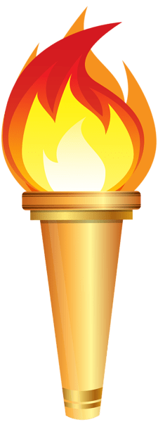 png black and white Torch fire elegant of. Flashlight clipart free