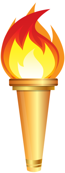 clipart free stock Olympic Torch PNG Clip Art Image