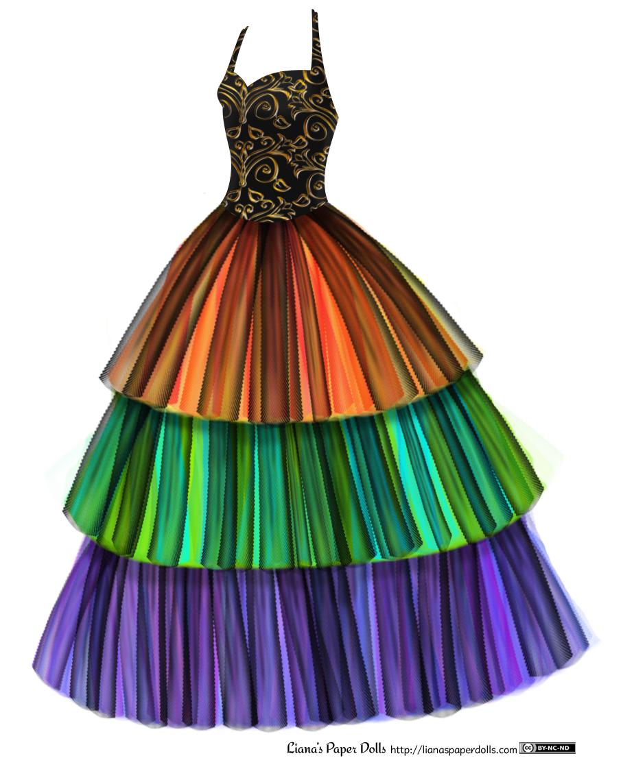 clipart library library Ballgown with Tulle Skirt