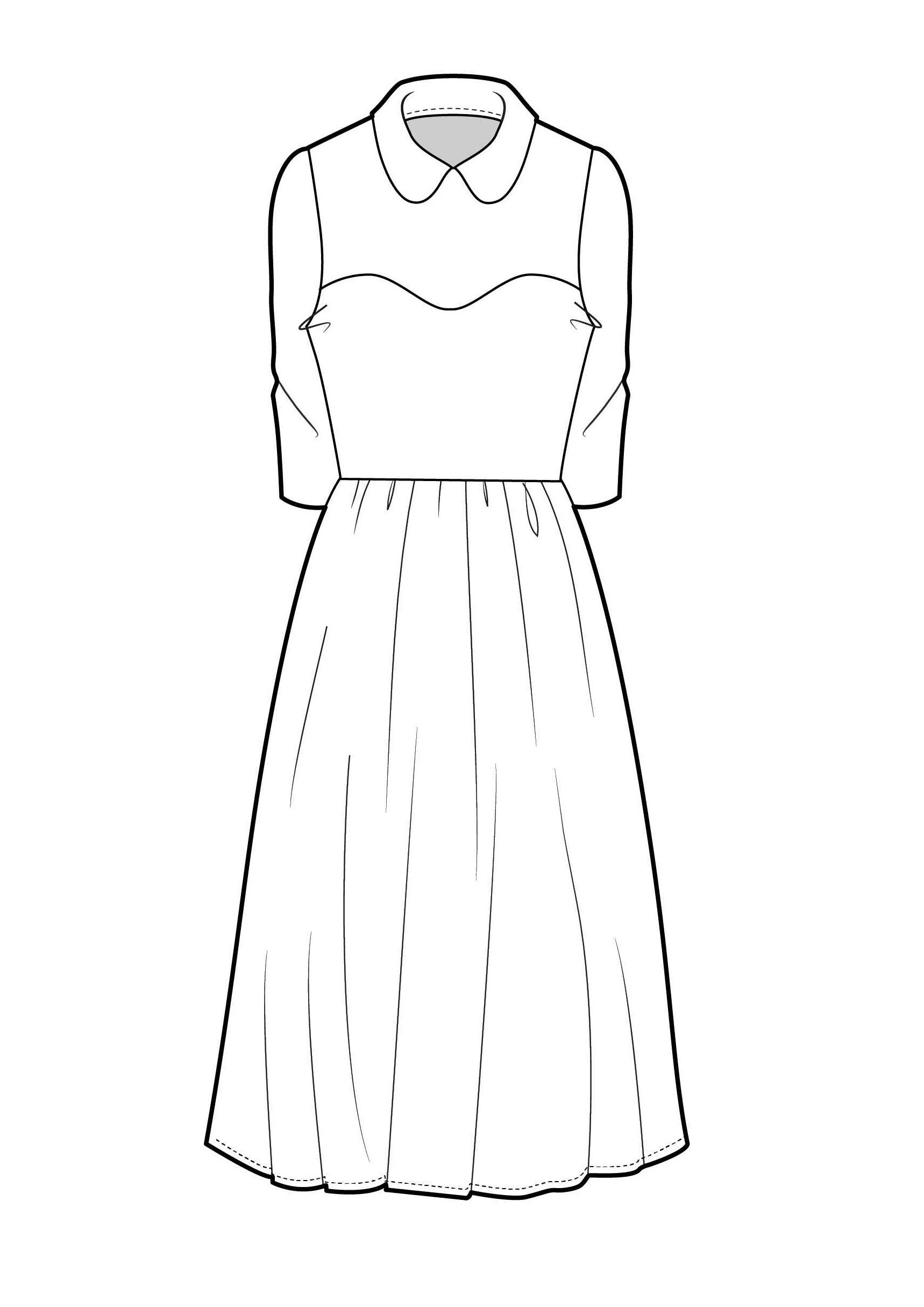 clipart black and white Drawing outfits clothing. Collared dress fashion flat