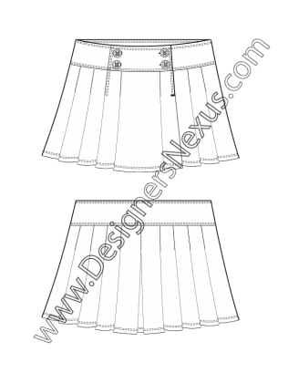 graphic free ruffles drawing flat #115422312