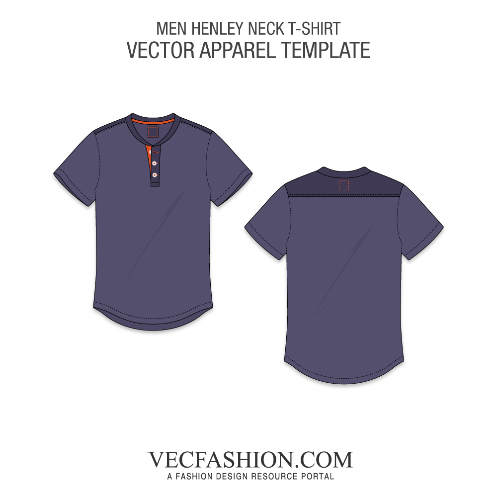 vector library stock T vecfashion men henley. Drawing shirts detailed