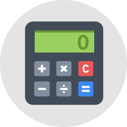 clip art stock Vector calculation flat. Calculator icon shop download
