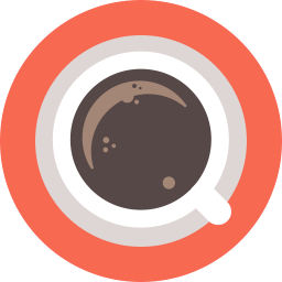 royalty free library Icon shop download free. Vector coffee flat