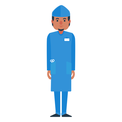 clip art transparent download Flat character png image. Vector doctor male