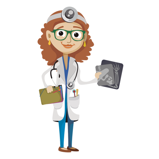 image library stock Vector doctor physician. Female cartoon png image