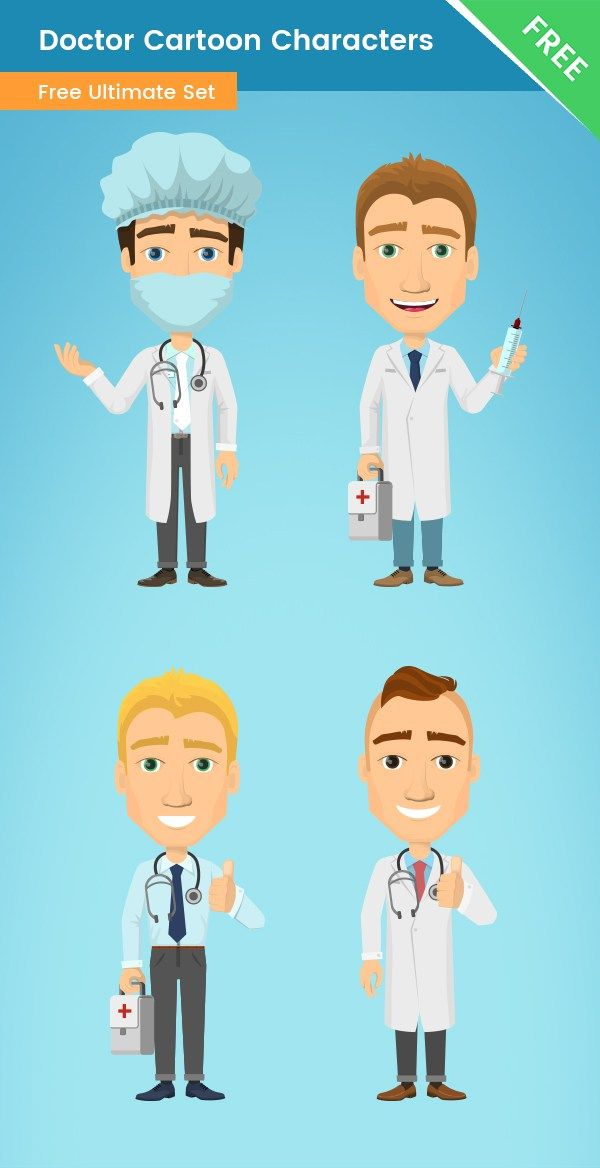jpg  cartoon characters made. Vector doctor animation