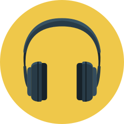 banner library library Headphone Icon