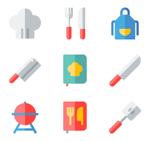 svg royalty free Kitchen Icons