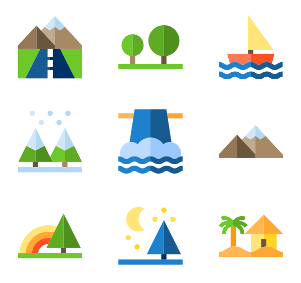 image library stock flat vector landscape #96701344