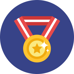 vector stock Medal Icon Flat