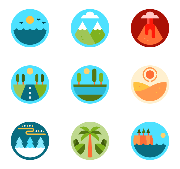 vector freeuse download Mountain Icons