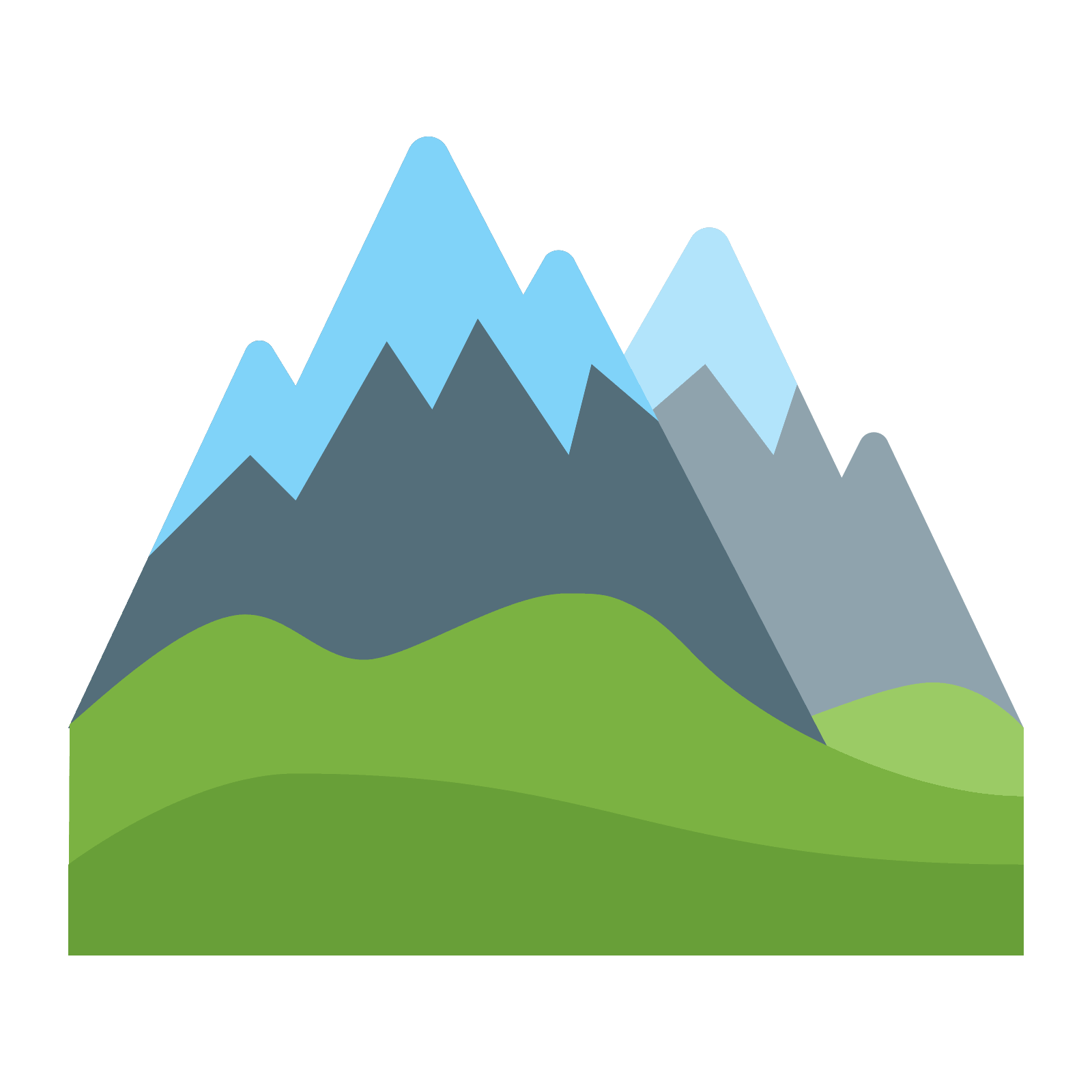 black and white download Alps Icon