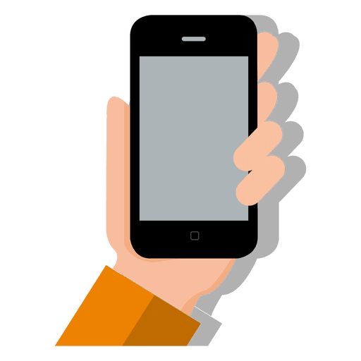jpg royalty free Smartphone on hand