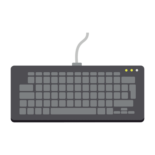 banner freeuse Vector computer keyboard. Flat icon transparent png