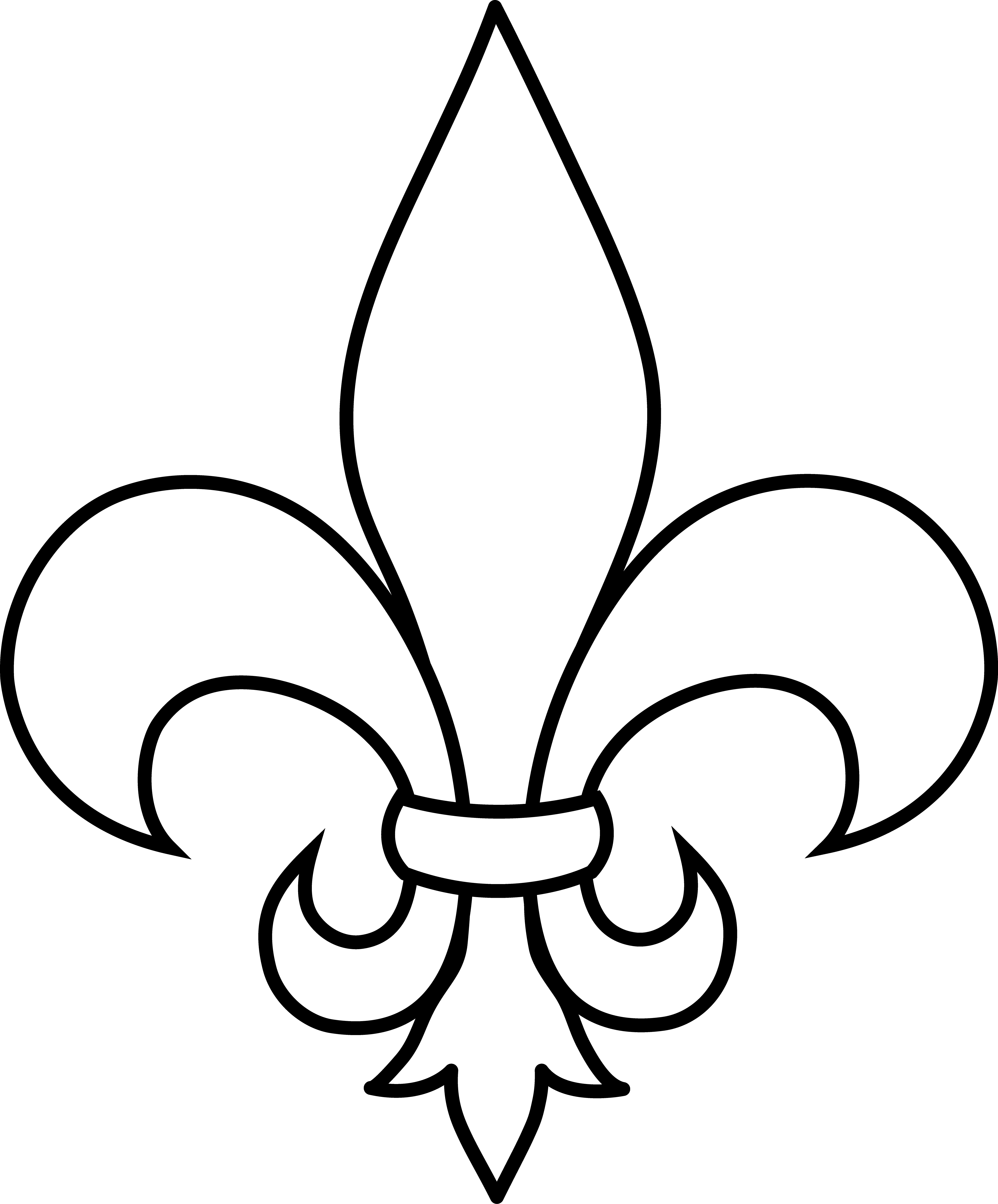picture black and white stock Frrench free clip art. Fleur de lis clipart