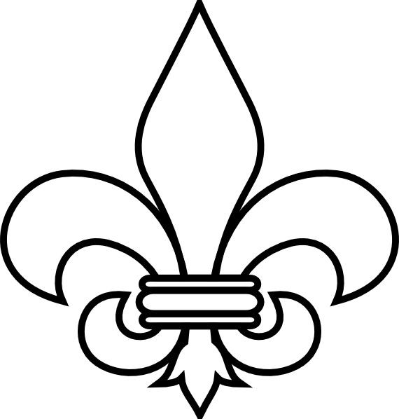 svg free download Fleur de lis clipart. Outline clip art free