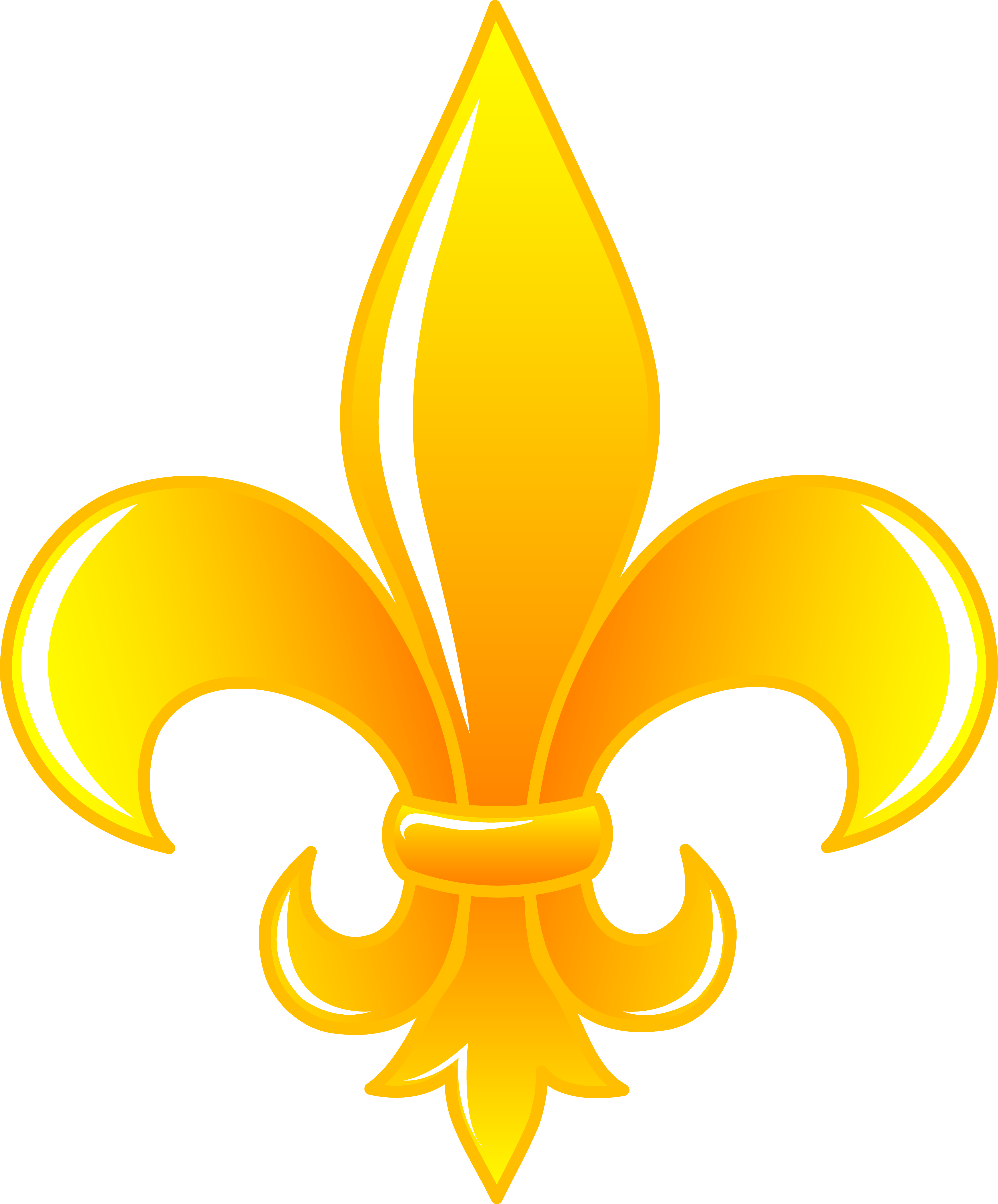 clip art black and white stock Fleur de lis clipart. Shiny gold clip art