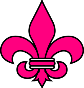 banner transparent download Fleur de lis clipart. Pink clip art at