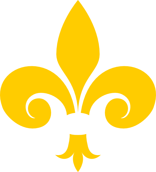 jpg transparent Gold Fleur De Lis Clip Art at Clker