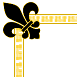 graphic library download Free borders and clip. Fleur de lis clipart gold