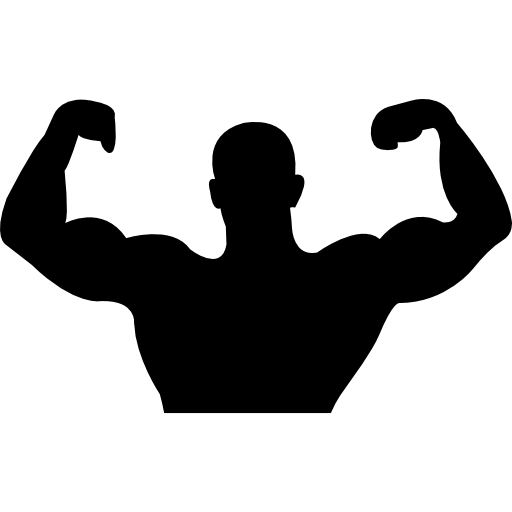 clip art black and white library Flex silhouette at getdrawings. Flexing arm clipart.