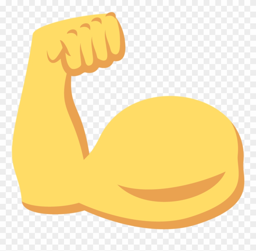 library Flexing arm clipart. Similiar emoji keywords muscle.