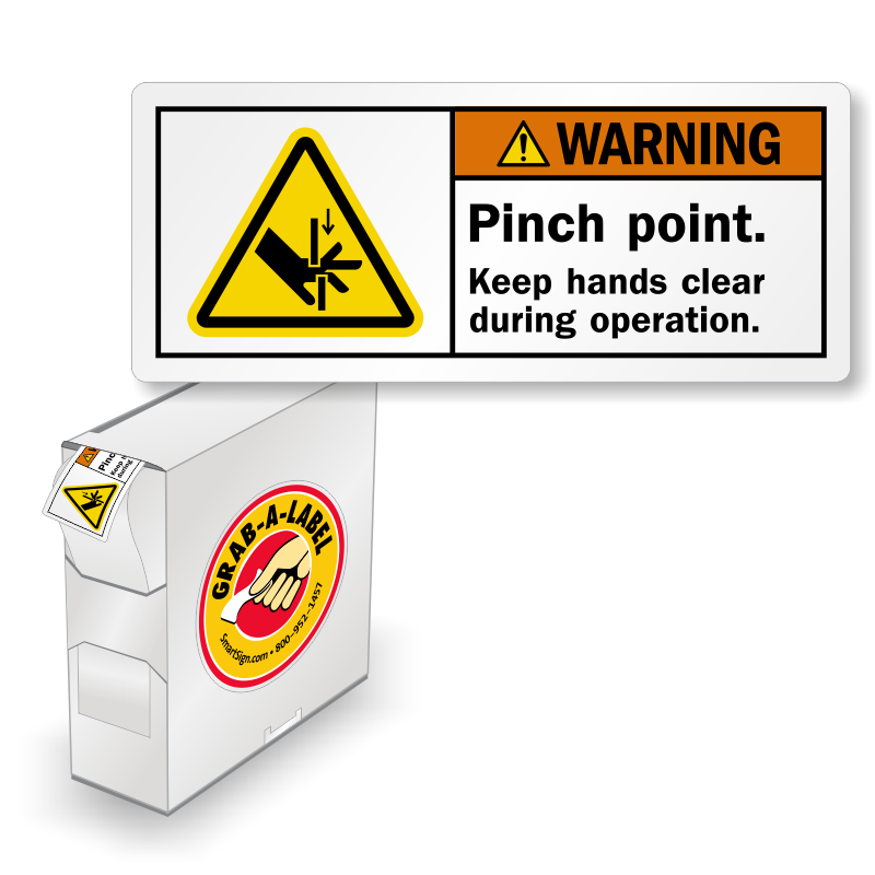 vector royalty free download ISO Pinch Point Keep Clear Grab