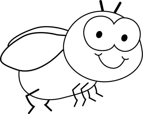 clip art transparent stock Bug clipart black and white. Fly clip art images