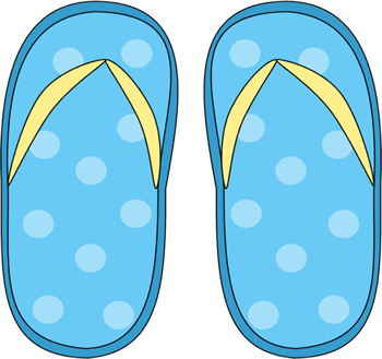 free Rainbow flops . Flip flop clipart