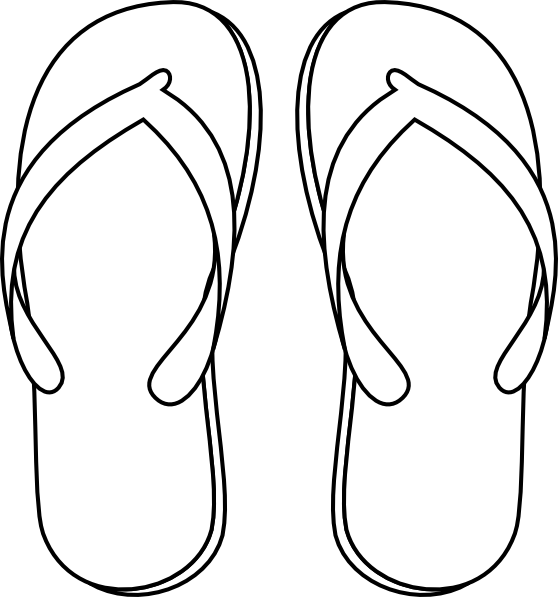 image free drawing of a flip flop