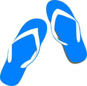 png transparent Blue Flip Flops Clip Art at Clker