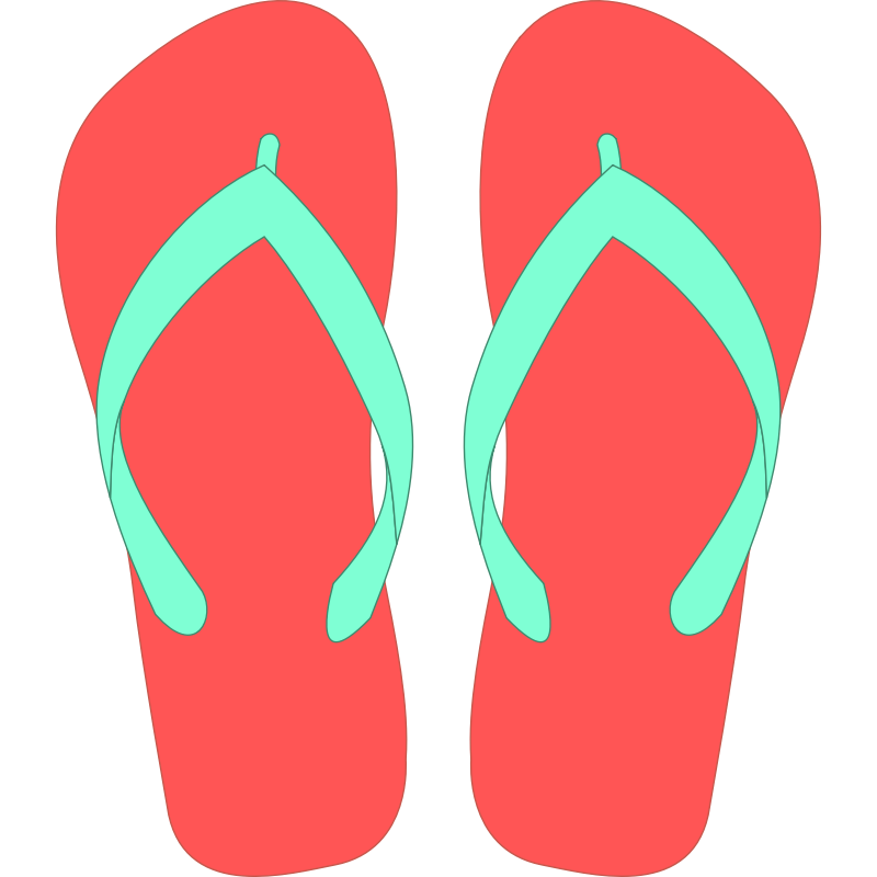 jpg royalty free download Vector clothing summer. Crafty flip flop clipart