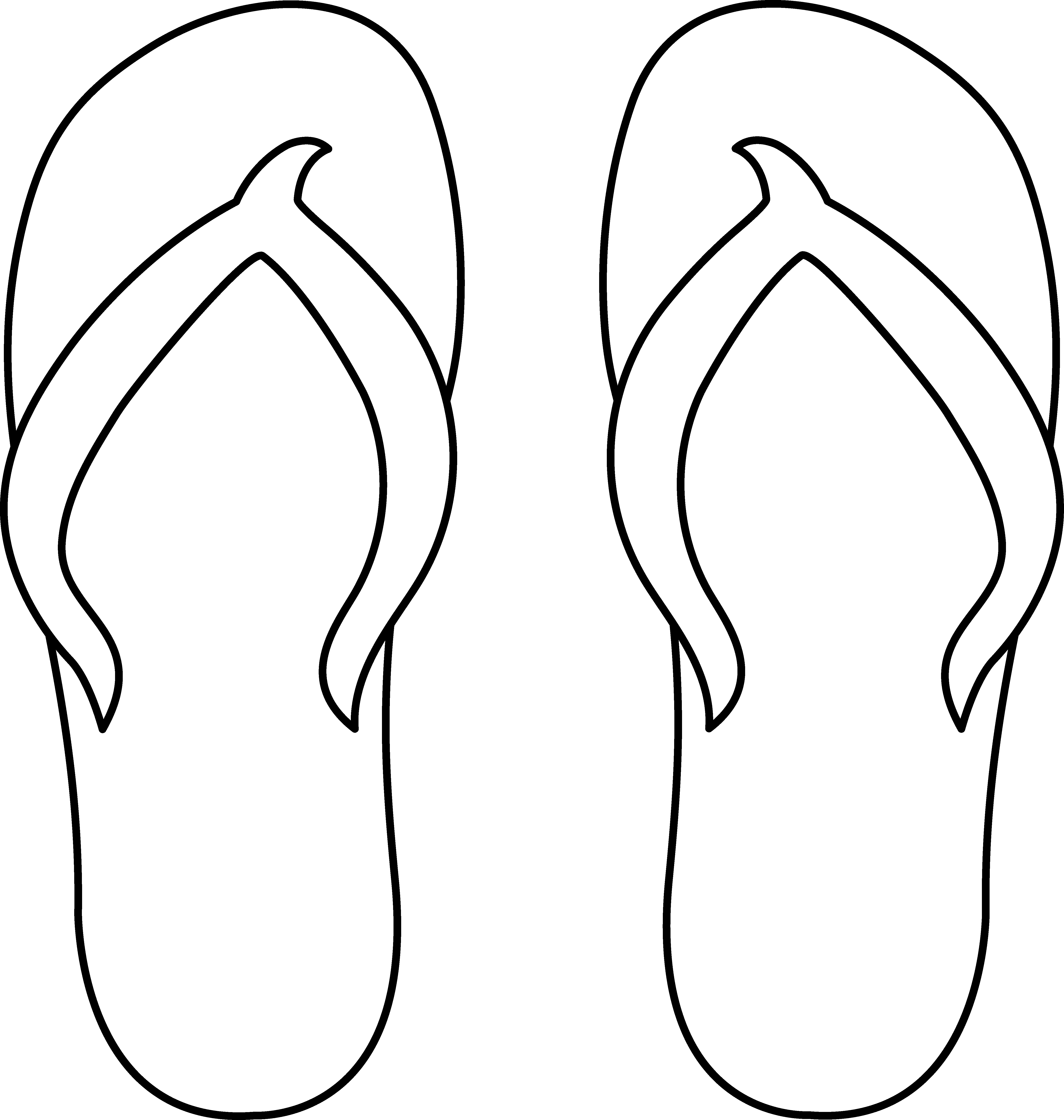 clip art royalty free library Mitten clipart shoe. Colorable flip flops for.