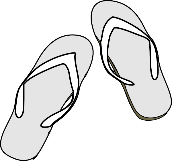 black and white library Flip Flops Clipart Black And White